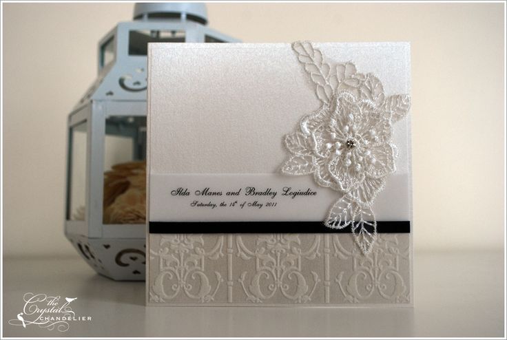 Unique lace invitation