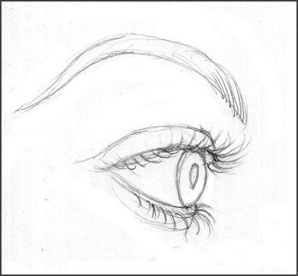 how to draw eyelashes 1