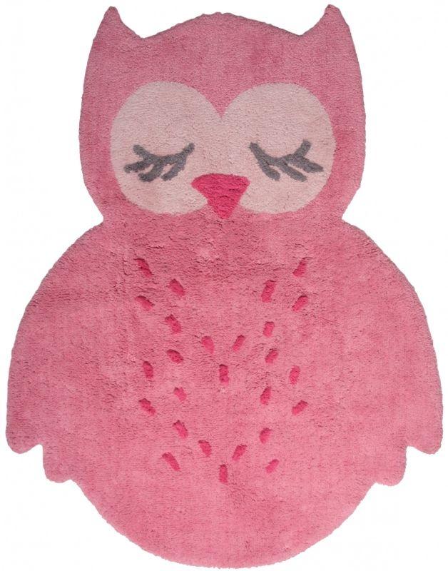 """Vloerkleed Kinderkamer """"Sweet Owl Pink"""""""