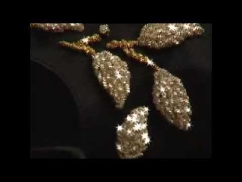 Dimitri Castano - Gold Embroiderer - Black Peep toe presentation - YouTube