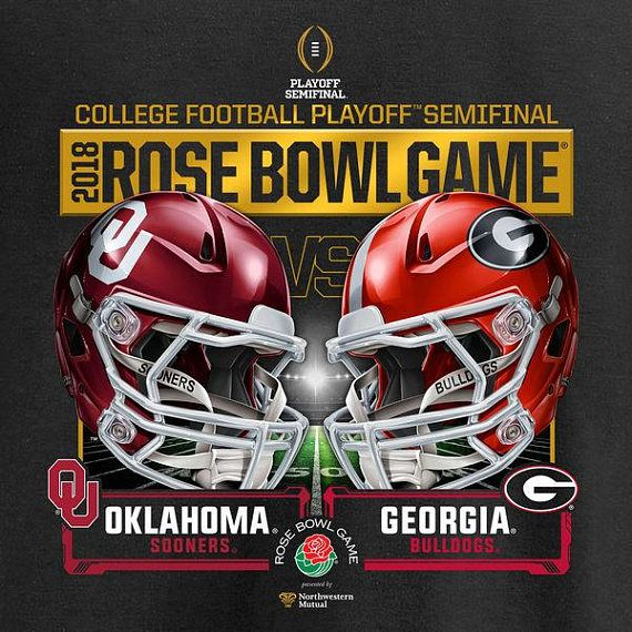 2018 Rose Bowl Game Oklahoma vs Georgia Semi Final Magnet 3 x 3 #affiliate