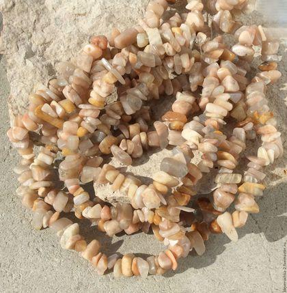 Для украшений ручной работы. Ярмарка Мастеров - ручная работа. Купить Солнечный камень нить 40 см крошка бусины камни для украшений. Handmade.