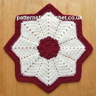 Free crochet pattern star table centre usa