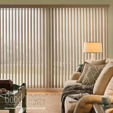 Good Housekeeping Cordless Vertical Blinds - contemporary - vertical blinds - other metro - BlindSaver.com