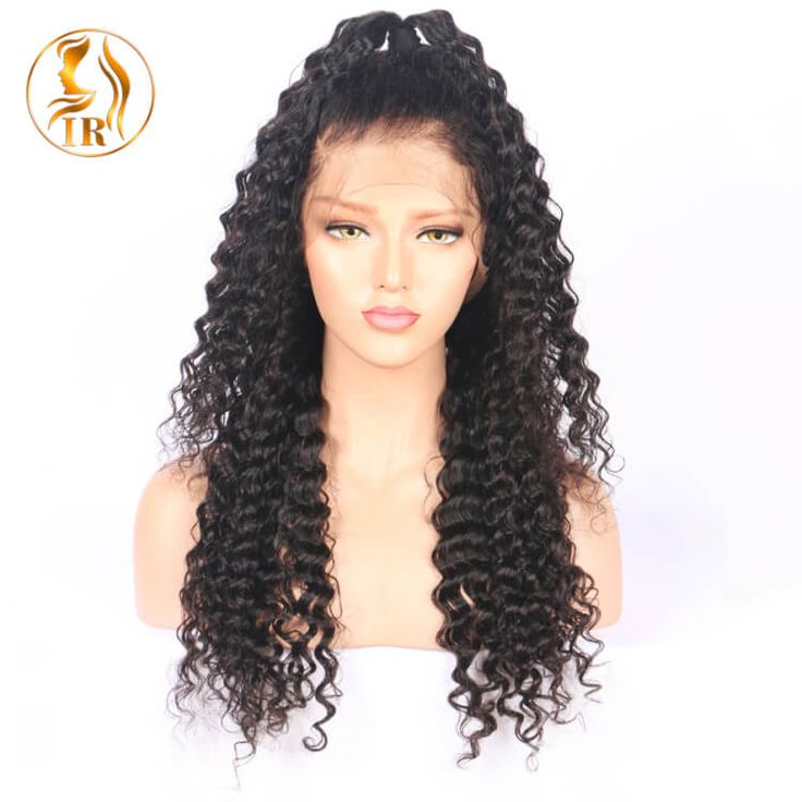 deep wave 150% Lace front wigs natural color virgin Remy Hair Weave