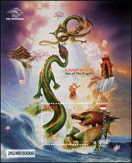 Indonesia stamps-Lunar new year of the Dragon 2012