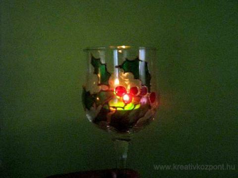 Pohárfestés üvegfestékkel - A kész pohár