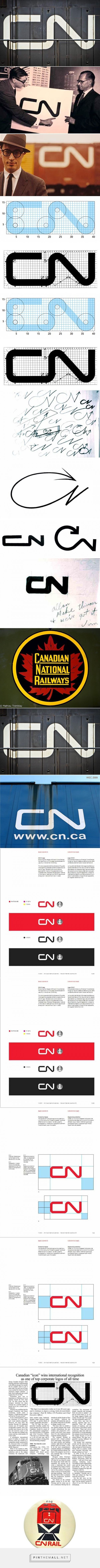 CN Logo Designed by Allan Fleming & CN Brand Guidelines... - a grouped images picture - Pin Them All