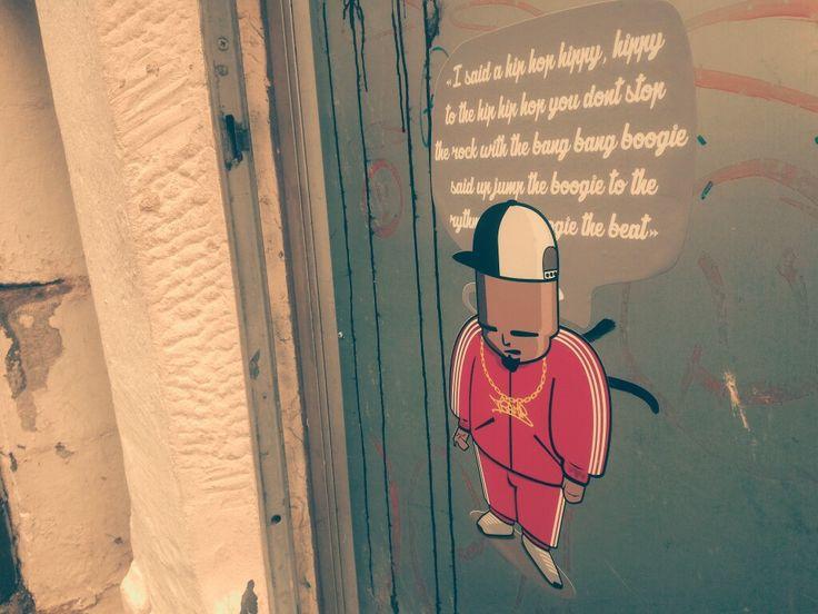 I said a hip-hop.. Street Art by Tramb