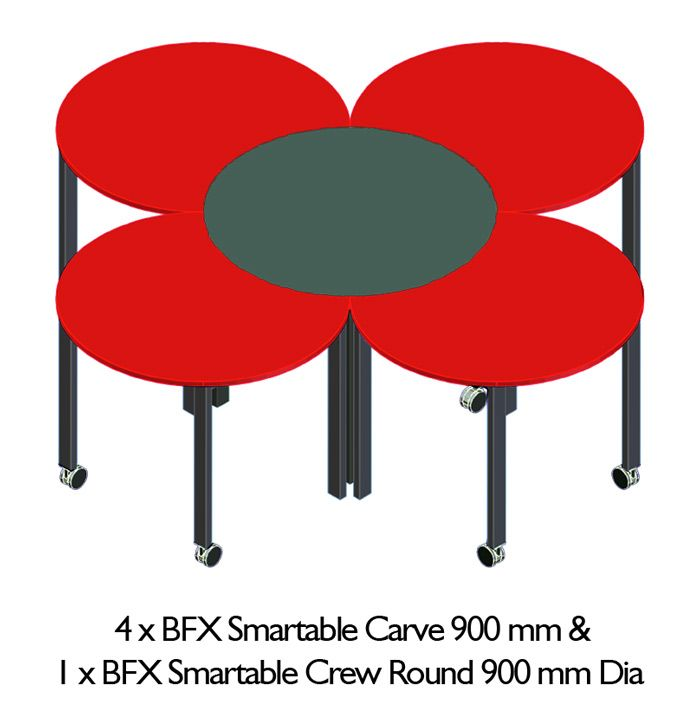 Smartable™ Crew™ Round Table #Studenttables #Furniture