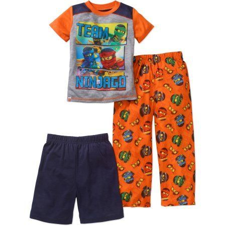 Lego Ninjago Boys' 3-Piece Sleepwear Set, Size: 4/5, Orange