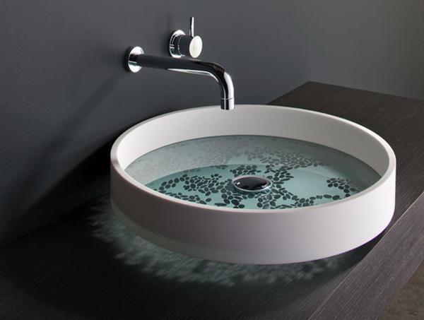Image result for modern round spun brass washbasin