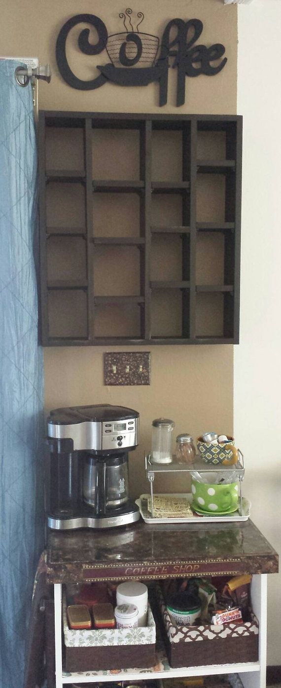16 Coffee Cup Display Shelf by caffeineandme on Etsy