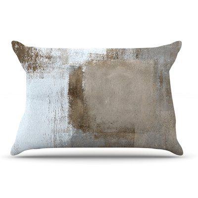 East Urban Home CarolLynn Tice 'Calm And Neutral' Pillow Case