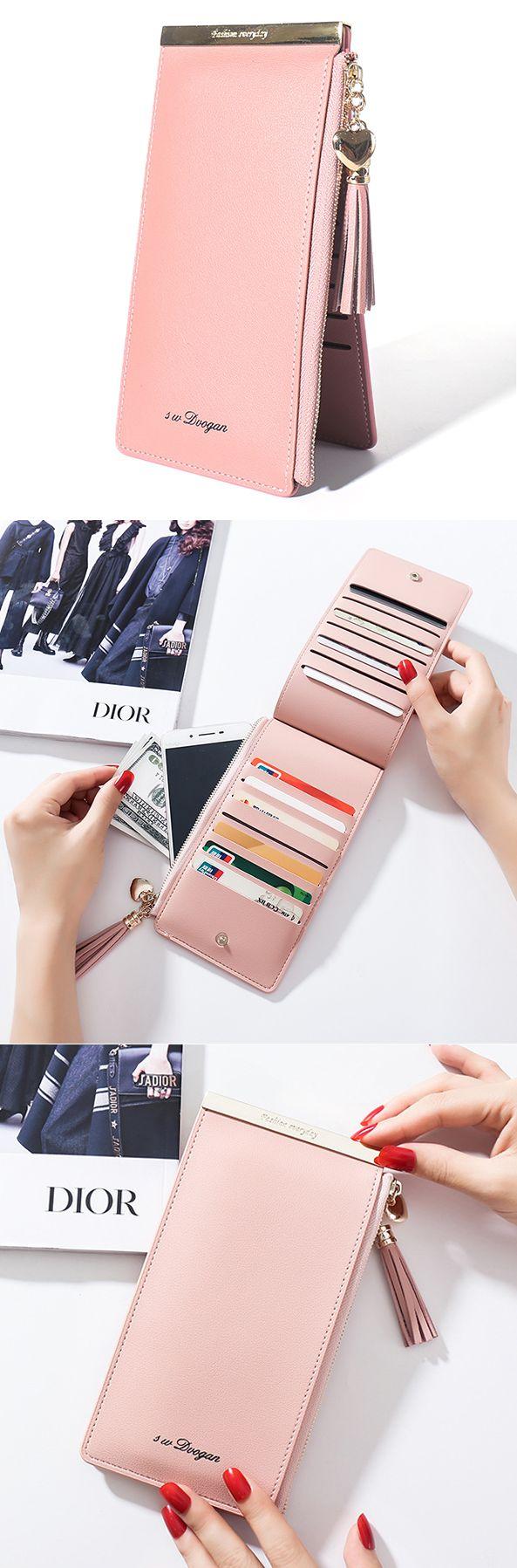 US$11.87 Only.14 Card Slots Card Holder Phone Bags Elegant Wallet Purse