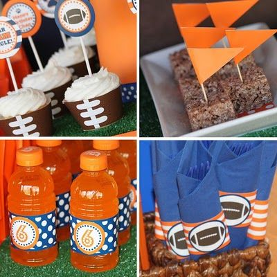 Football theme - Broncos, cute idea for the super bowl this year when they go all the way!!!!!