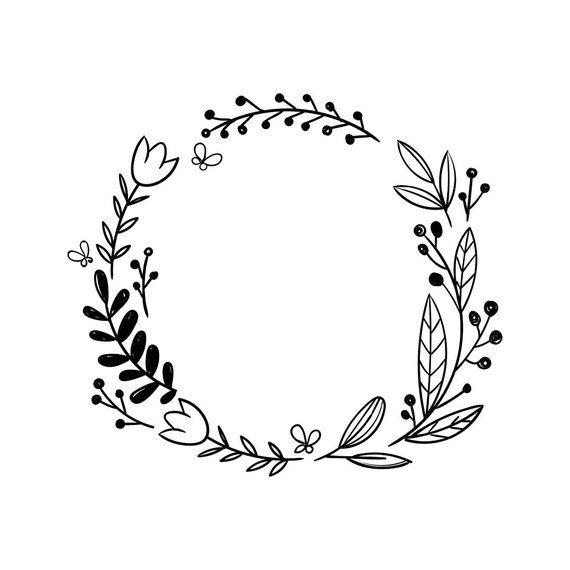 Vinyle de mariage fleur cadre graphique SVG Dxf EPS Png Cdr Ai Pdf Vector Art Clipart téléchargement télécharger impression numérique couper fichier Cricut Silhouette