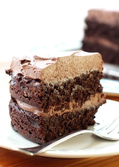 Unforgettable Chocolate Quinoa Cake (this cake still impresses me every time I make it! No one can tell it is made with quinoa!) recipe by Barefeet In The Kitchen