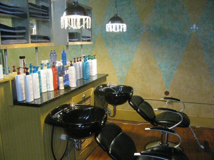 Shampoo area....@1212 Salon