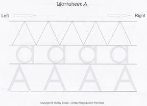 Free Printable Preschool Alfabeto Scritto da fogli di lavoro