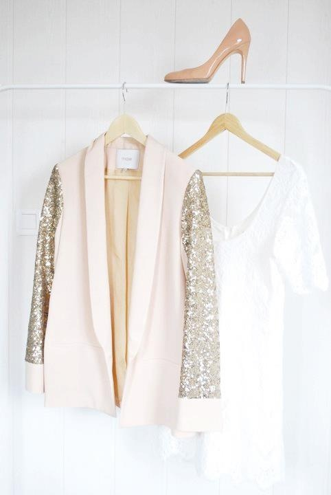 Pink blazer with glitter sleeves? I'd be lying if I said I wasn't a girly girl sometimes.