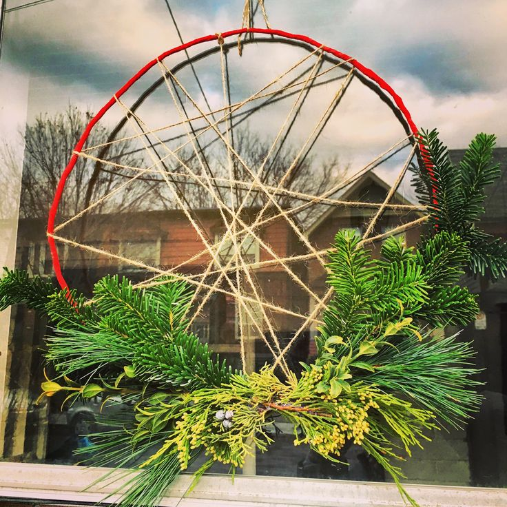 Create something more unique for the holidays - like this Scandinavian styled wreath