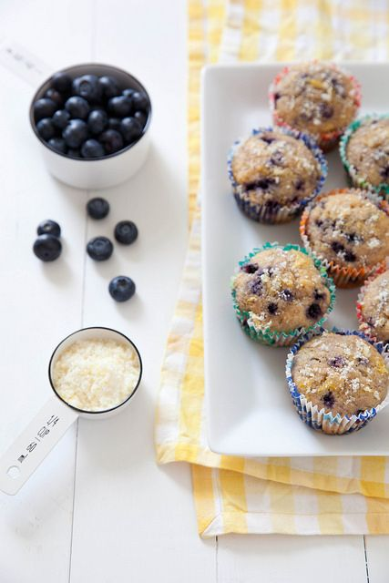 Lightened Up whole wheat Lemon Blueberry Muffins   Annie's Eats