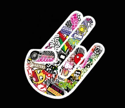 Shocker Hand sticker bomb Aufkleber im Jdm drift Tuning Design günstig im Shop kaufen.