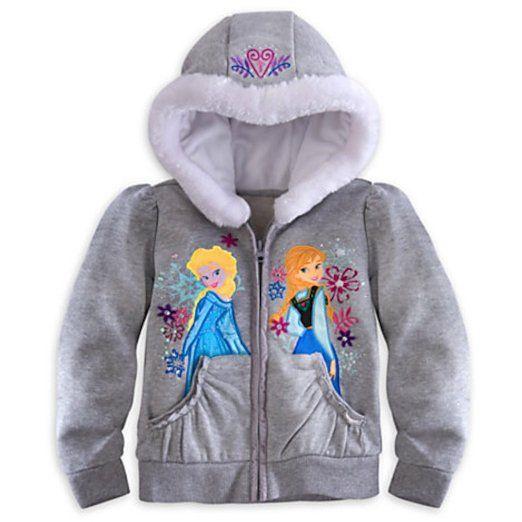 Disney Store Frozen Anna Elsa Hoodie Sweatshirt Jacket Xxs