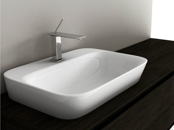 Rectangular ceramic washbasin SOUL 4 Soul Collection by Valdama | design Monia Marzano...  avaliable at http://www.studiobagno.com.au/product/soul-4