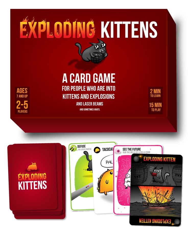 Exploding Kittens Card Game - For people who are into kittens and explosions and laser beams and sometimes goats!