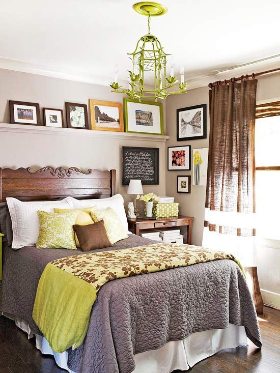 Cute room and love the picture ledge above the bed. It finishes it off.
