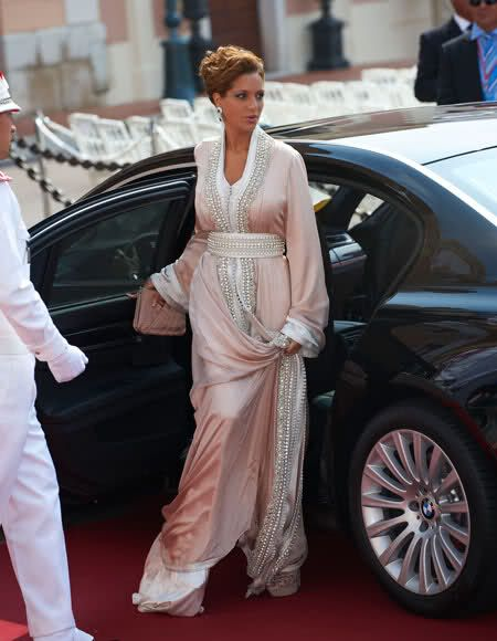 Moroccan princess Lalla Soukaina in a traditional moroccan dress at the wedding of prince albert of Monaco  Moroccan princess in caftan