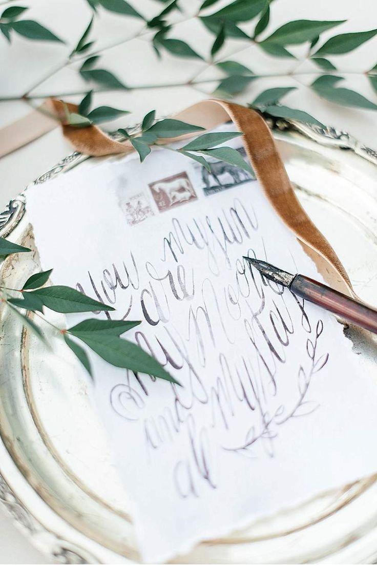 40 best WEDDING CALLIGRAPHY images on Pinterest Wedding