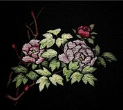 Japanese Silk Embroidery.