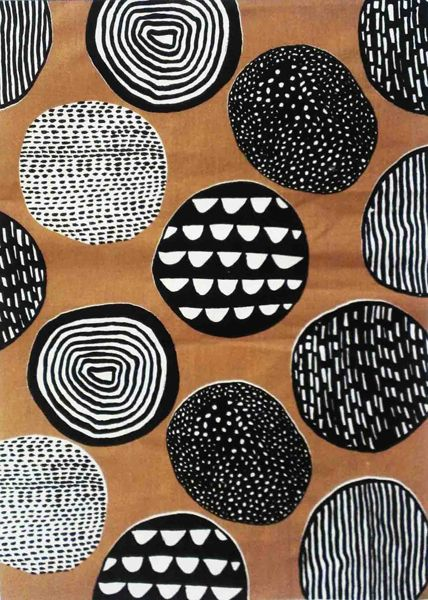 Circles - Abbey Withington...Scandinavian inspired fabric intended for interiors. Painted with ink and screen printed onto linen