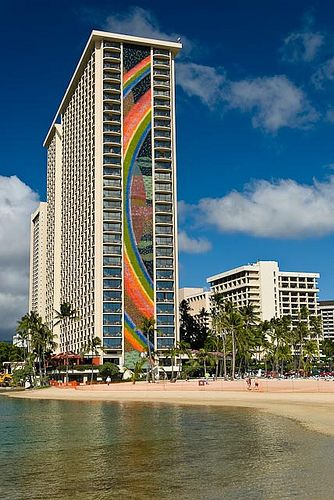 The Rainbow Tower On Waikiki Beach Is Sline Fronting And One Of Best Known Beaches In World