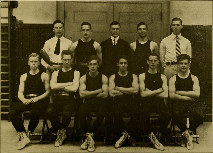 GYMNASTICS, 1914 Gymnastics Team from Haverford, PA