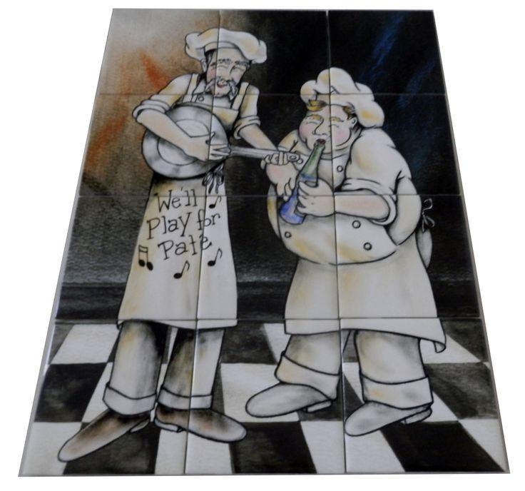 Decorative Wall Tile Murals Pleasing 27 Best Chef On Ceramic Tiles Murals Images On Pinterest  Tile Design Inspiration