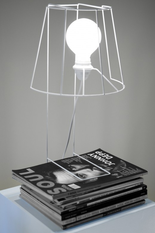table lamp simple design with white steel frames | lighting . Beleuchtung . luminaires | Design: Anita Donna Bianco |