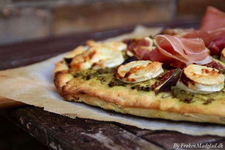 Let pizza med figen og gedeost - Frøken Madglad