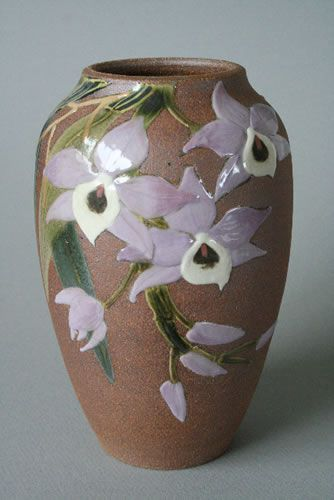 Orchid Vase - JC Niehaus Pottery - Arts & Crafts Inspired Pottery - Design - #CAPCA