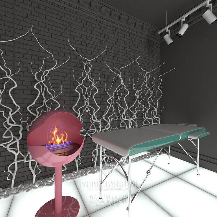 Дизайн массажного кабинета салона красоты Lipstick http://www.line-mg.ru/portfolio/dizayn-salona-krasoty-lipstick