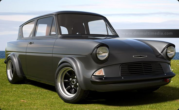 retro Ford Anglia Hayabusa - sex on wheels.
