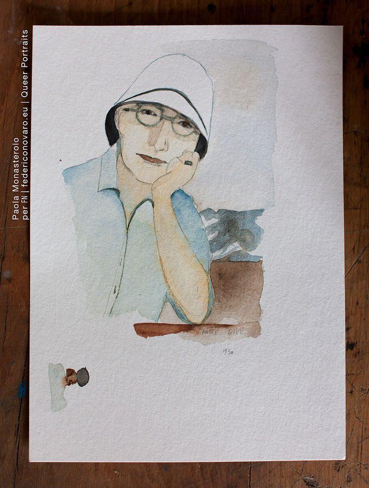ANDRÉ GIDE, di Paola Monasterolo. QUEER PORTRAITS, 27. - feat. Federico Boccaccini www.federiconovaro.eu