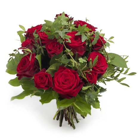 Red roses and hedera from Euroflorist