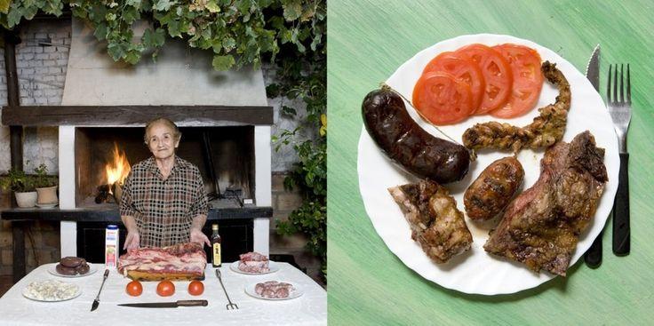 Argentina: Asado criollo (mixed meats barbecue)  Isolina Perez De Vargas, 83 years old – Mendoza, Argentina