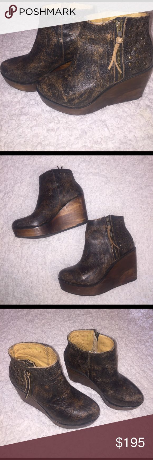 Bed Stu Platform Wedge Bootie Bed Stu Ghent wedge bootie. Extremely well made. Only wore twice, in perfect condition!! Bed Stu Shoes Ankle Boots & Booties