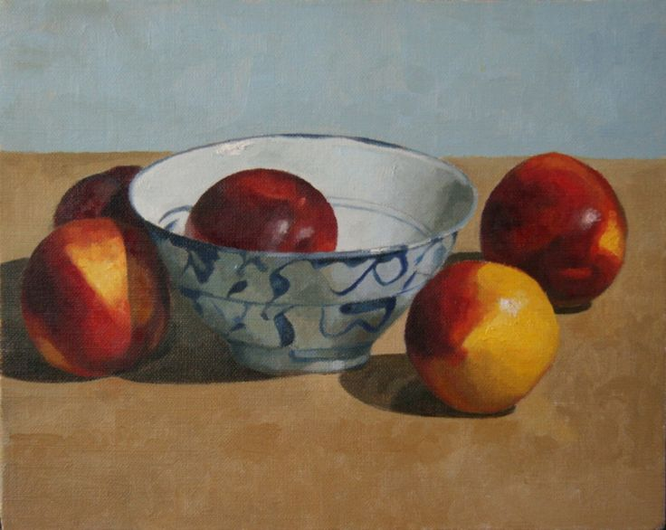 """Chinese Bowl & Nectarines"" 