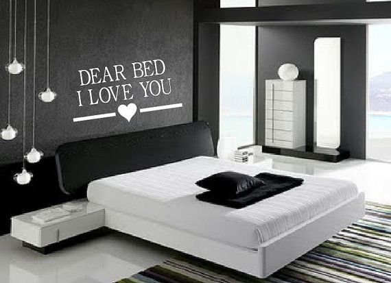Dear Bed, I Love You- wall decal, bedroom decor  Love you ...